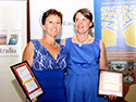 Winner Danielle England with Runner Up Leilani Leyland at the RIRDC Rural Womens Award 2013